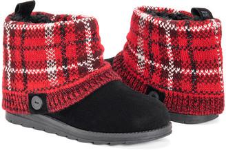 Muk Luks Women's Casual boots Black/Red - Black & Red Plaid Patti Boot - Women