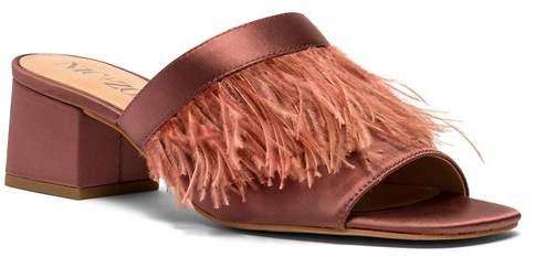 Nic+Zoe Zendaya Genuine Ostrich Feather Sandal