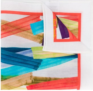 Paul Smith Paint Stroke Print Square Scarf