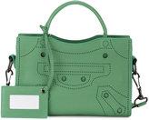 Balenciaga Small Green Leather Blackout City bag
