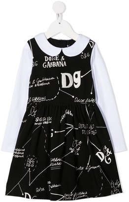 Dolce & Gabbana Kids Logo Print Short Dress