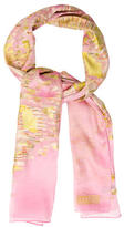 Christian Lacroix Sheer Metallic-Trimmed Scarf