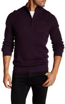Toscano Quarter Zip Ribbed Pullover