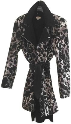 Karen Millen Black Cotton Coat for Women