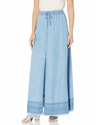 BB Dakota Women's max me Out Indigo Maxi Skirt