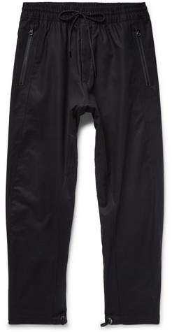 Nike Acg Variable Tapered Cotton-blend Drawstring Trousers - Black