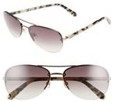 Kate Spade Women's 'Beryls' 59Mm Sunglasses - Gold/ Brown Gradient