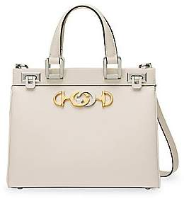 Gucci Women's Zumi Leather Top Handle Bag