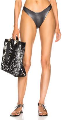 Alix Nyc ALIX NYC Espanola Metallic Bikini Bottom in Black Metallic & Black   FWRD
