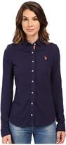 U.S. Polo Assn. Knit Pique Button Up Shirt