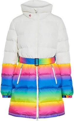 Perfect Moment Alps Parka Ii Belted Degrade-paneled Quilted Down Ski Jacket