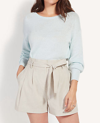 Ann Taylor Petite Drop Shoulder Boatneck Sweater