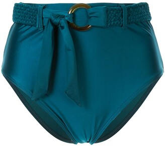 Duskii Oceana belted high waisted bikini bottoms