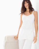 Soma Intimates Satin Trimmed Pajama Cami Ivory