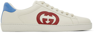 Gucci White GG Ace Low-Top Sneakers