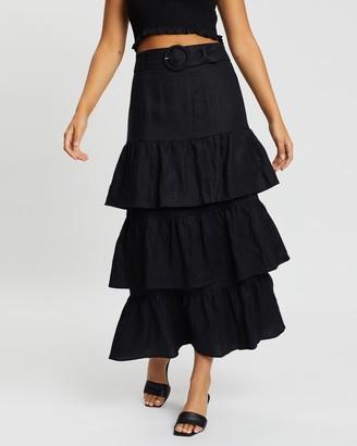 Capulet Paula Belted Midi Skirt