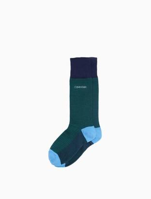 Calvin Klein Houndstooth Crew Socks