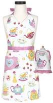 Girl's Handstand Kitchen Tea Party Kid Apron & Doll Apron Set