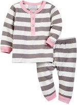 Coccoli Striped Long Sleeve Top & Pant Set (Baby Girls)