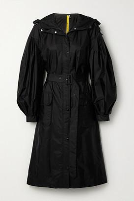 MONCLER GENIUS + 4 Simone Rocha Eminia Hooded Embellished Appliqued Shell Coat - Black