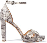MICHAEL Michael Kors Divia snake-effect leather sandals