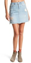 Noisy May Lucy Text Distressed Denim Skirt