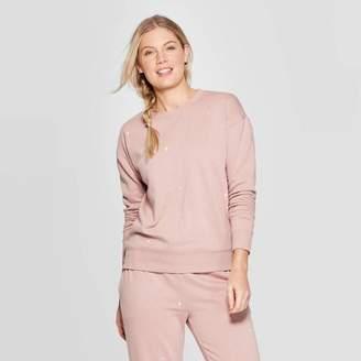 Universal Thread Women's Long Sleeve Crewneck Embroidered Sweatshirt - Universal ThreadTM Pink