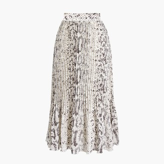 J.Crew Animal-print pleated midi skirt