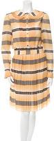 Temperley London Striped Long Sleeve Dress
