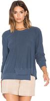 Wilt Seamed Long Sleeve Sweatshirt in Blue. - size XS (also in )