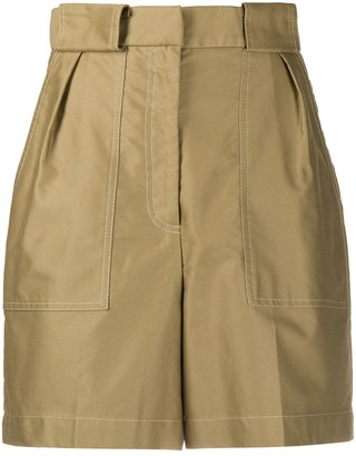 Sandro Paris High Waisted Bermuda Shorts