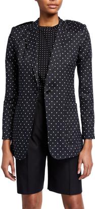Max Mara Polka-Dot Print Button-Front Jacket