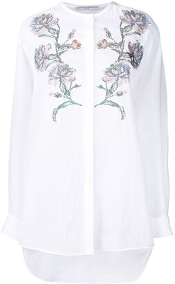 Ermanno Scervino Embroidered Collarless Shirt