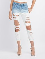 Charlotte Russe Cello Ombre Destroyed Boyfriend Jeans