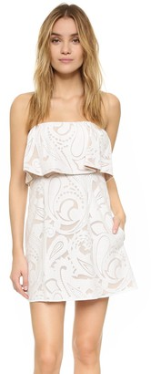 BCBGMAXAZRIA Azria Women's Leeah Strapless Lace Dress