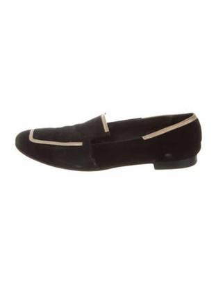 Hermes Suede Loafers Black