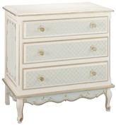 The Well Appointed House Three Drawer French Chest in an Elysee Finish with Optional Changing Tray