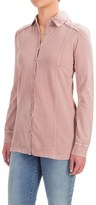 CABLE AND GAUGE Cable & Gauge Cotton Button-Front Shirt - Long Sleeve (For Women)