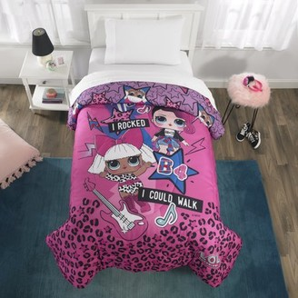 L.O.L Surprise! L.O.L. Surprise! Microfiber Comforter, Kids Bedding, Pink/Purple, TWIN/FULL