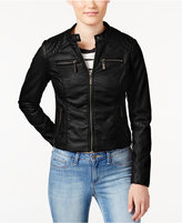 Joujou Jou Jou Juniors' Zip Front Faux-Leather Moto Jacket