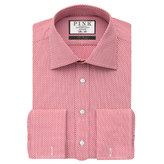 Thomas Pink Clarence Texture Slim Fit Double Cuff Shirt