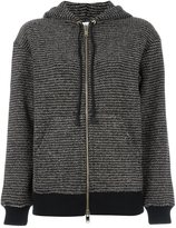 Sonia Rykiel metallic hooded cardigan - women - Cotton/Lurex/Polyamide/Wool - M