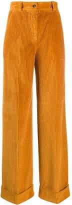 Pt01 wide-leg corduroy trousers