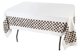Mackenzie Childs Courtly Check Small Linen Tablecloth