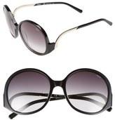 Chloé 'Emilia' 57mm Round Sunglasses