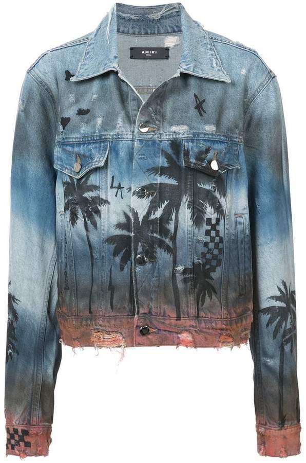 Amiri Palm Trucker jacket