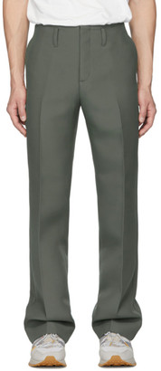 Name Khaki Matelasse Twill Trousers