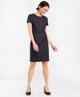 Brooks Brothers Polka-Dot Striped Wool-Blend Dress