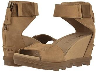 Sorel Joanietm II Ankle Strap (Camel Brown Full Grain Leather) Women's Shoes
