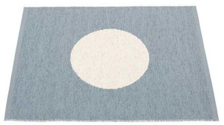 PAPPELINA Rug Storm and Vanilla 70 x 90 cm - plastic | recycled plastic | blue grey - Blue grey